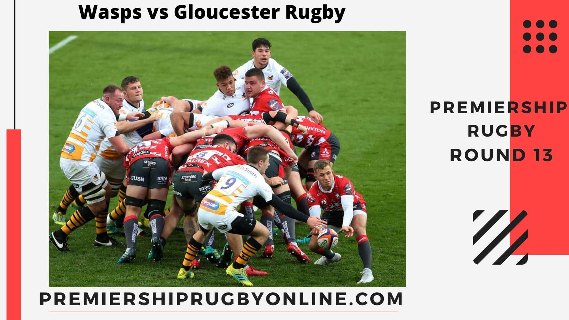 Wasps vs Gloucester Rugby live stream | Round 13