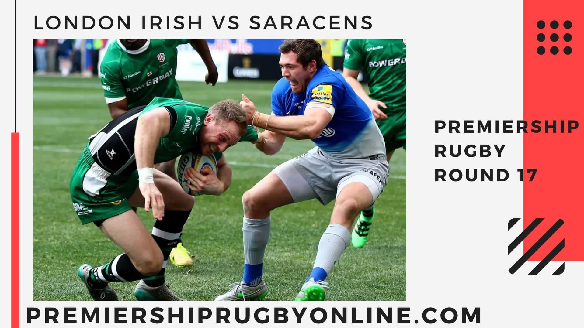 London Irish vs Saracens Postponed   Round 17