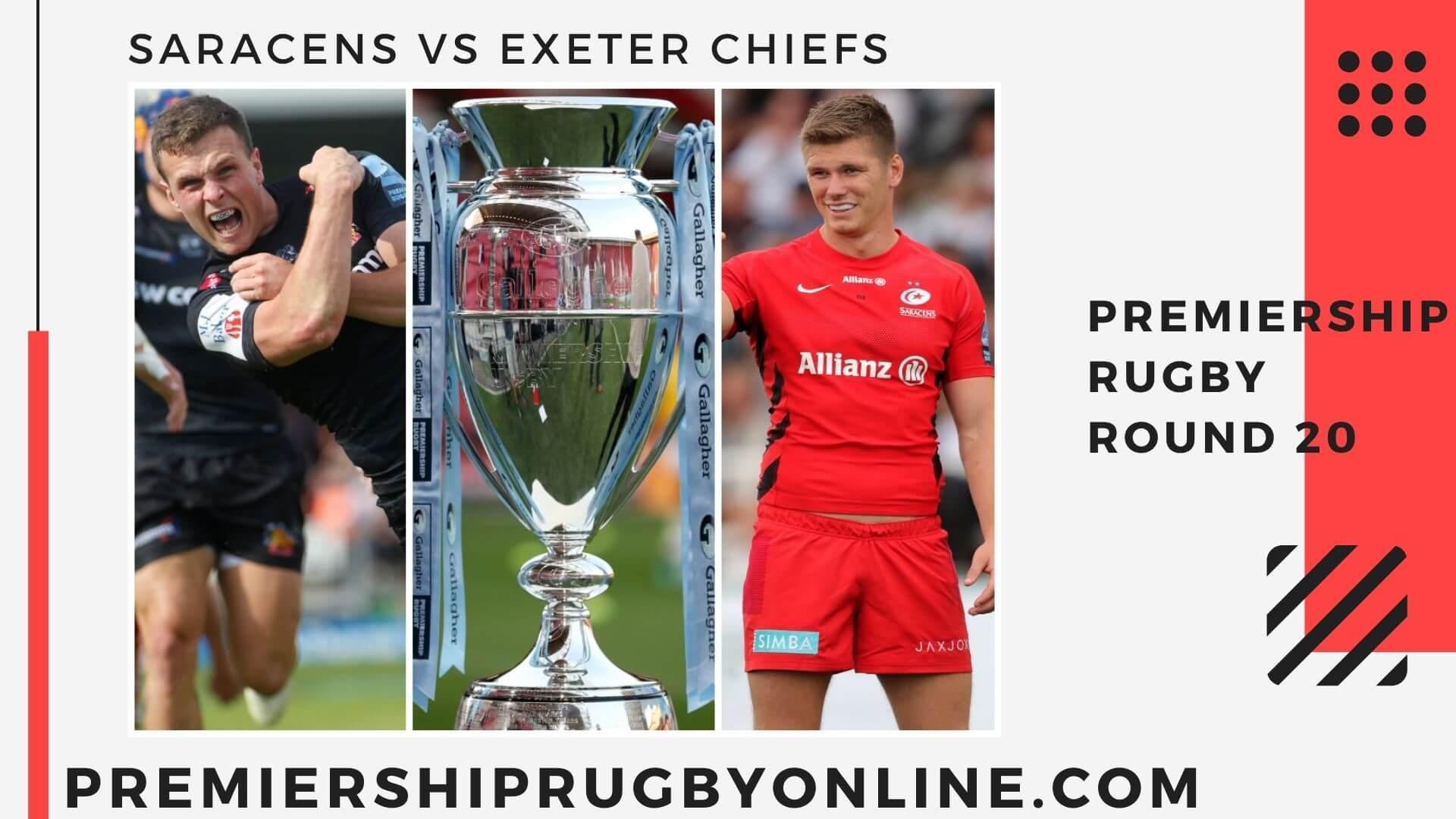 Saracens vs Exeter Chiefs Live Stream   Round 20