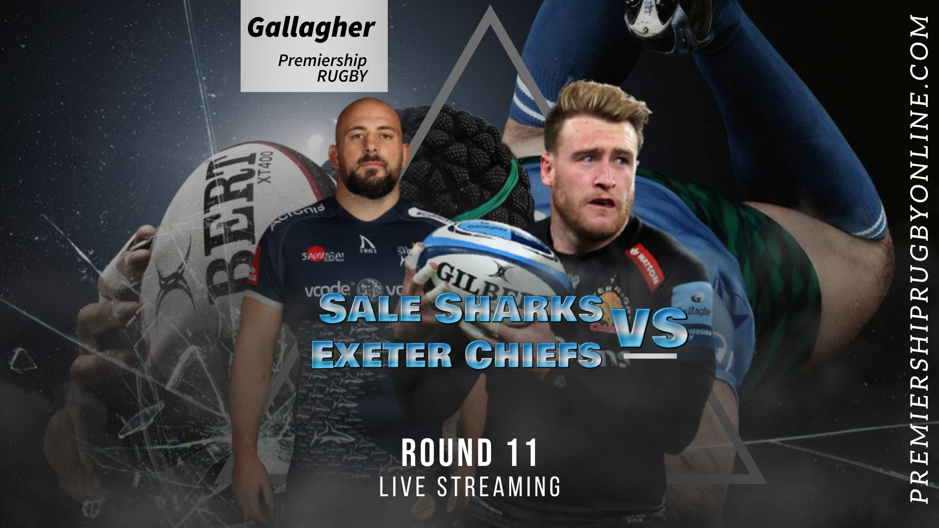 Sale Sharks Vs Exeter Chiefs Live Stream 2020-21 | Premiership Rugby Round 11 slider