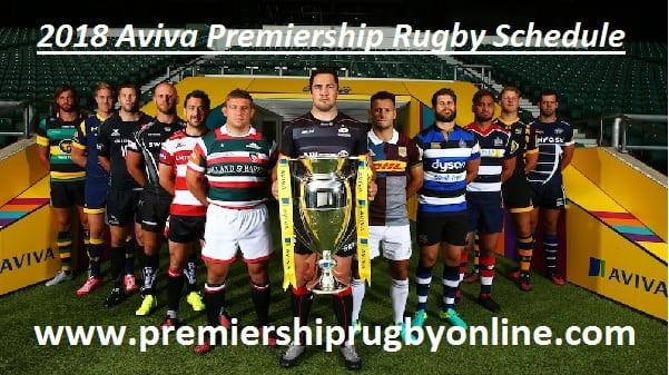 Aviva Premiership Rugby 2018 Fixture