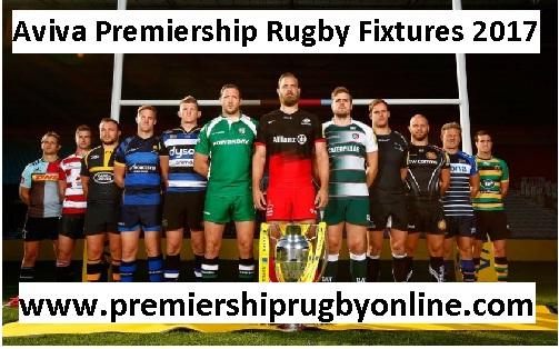 Aviva Premiership Rugby Fixtures 2017